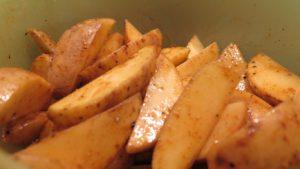Potato Wedges einfaches Rezept schnell zubereitet