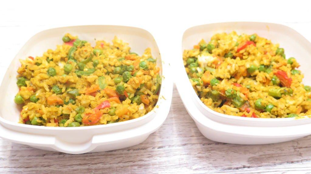 Meal Prep Wochenrezept #3: Reis - Gemüse - Pfanne