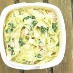 Meal Prep Rezept Woche #3: Bandnudel mit Blattspinat und Lachs